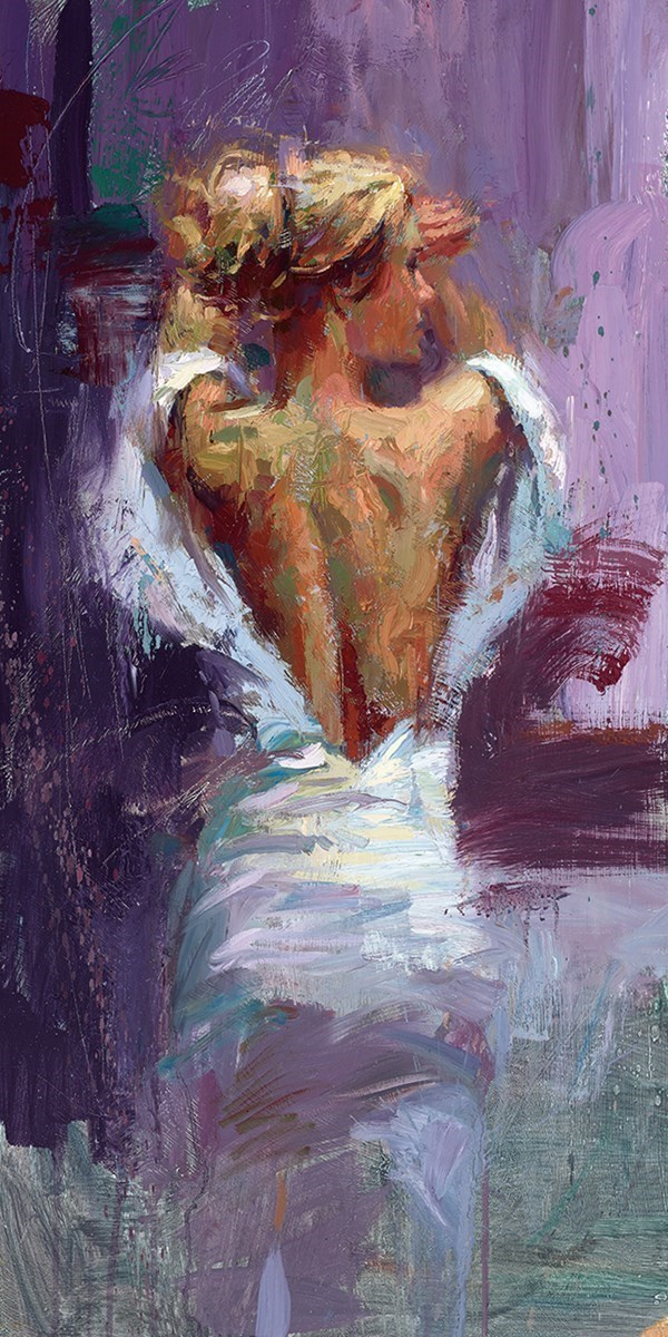 Elegance of the Night by Henry Asencio - Embellished Canvas on Board sized 14x28 inches. Available from Whitewall Galleries